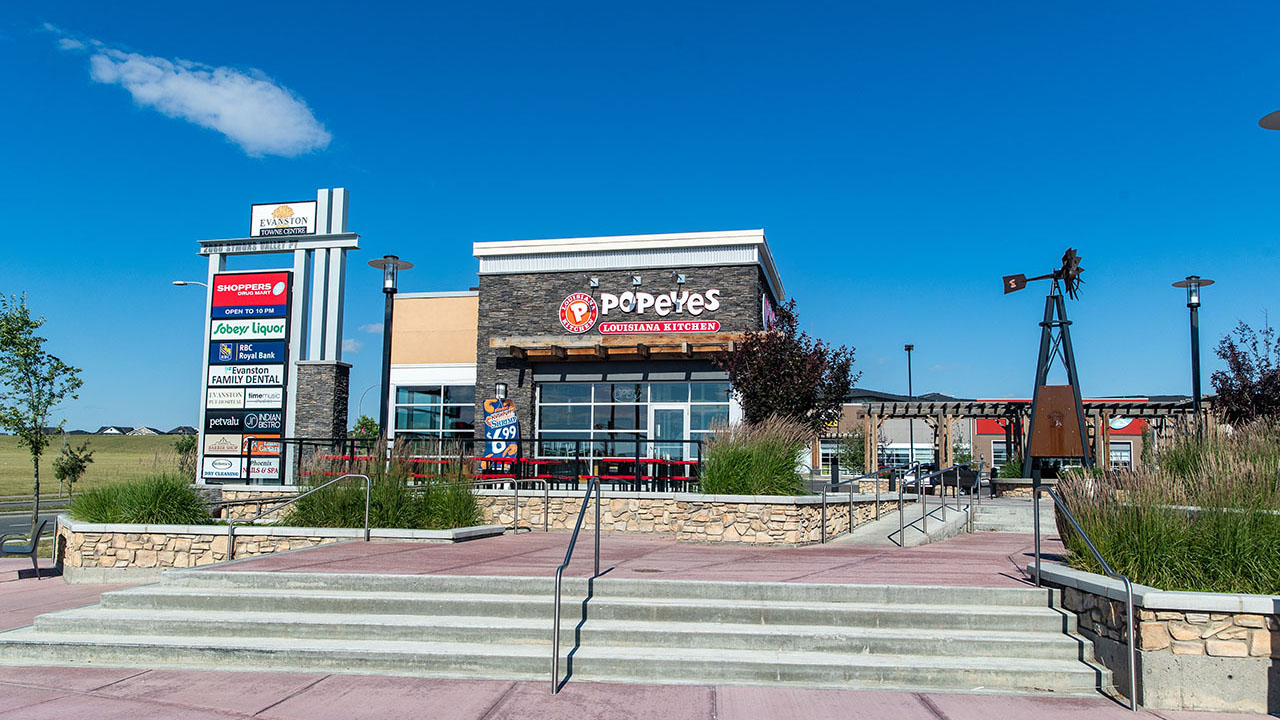 Qualico Commercial Calgary - Evanston Towne Centre - Popeyes
