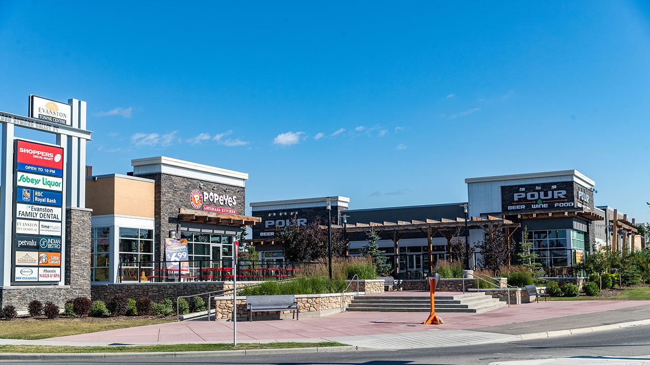 Qualico Commercial Calgary - Evanston Towne Centre - Panoview