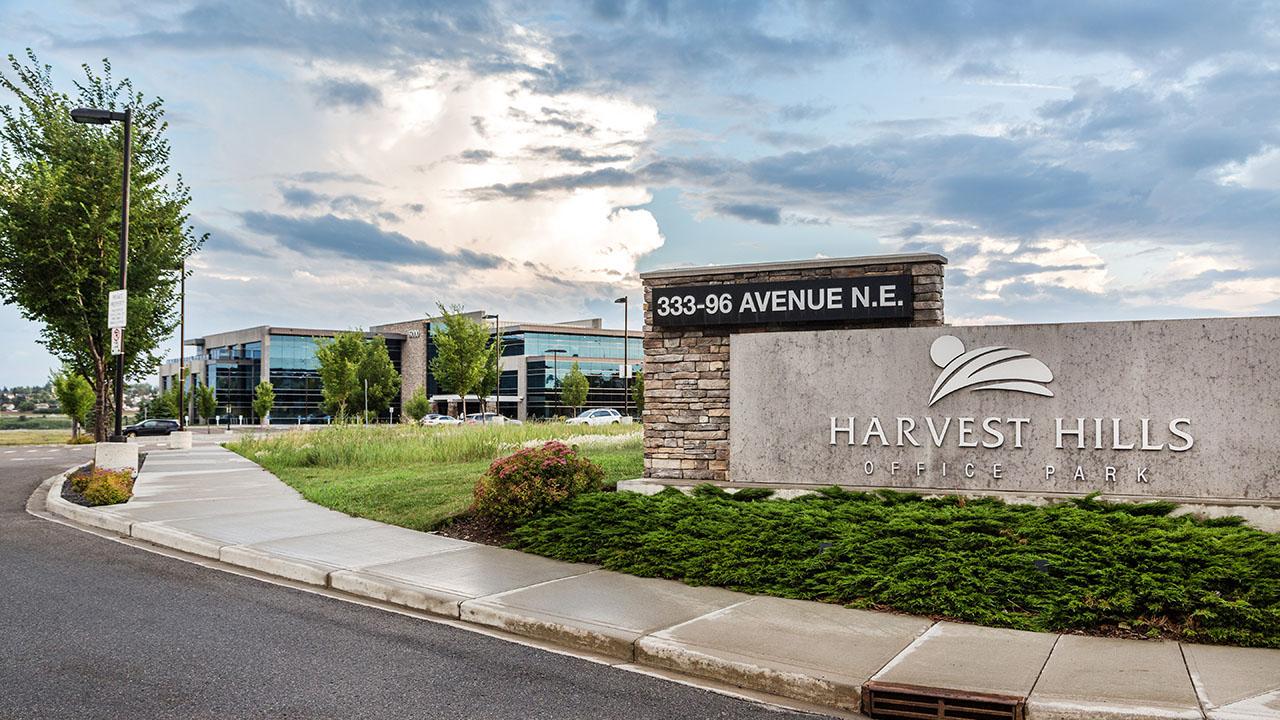 Rancho Calgary - Harvest Hills Office Park Building B - Entrance Sign