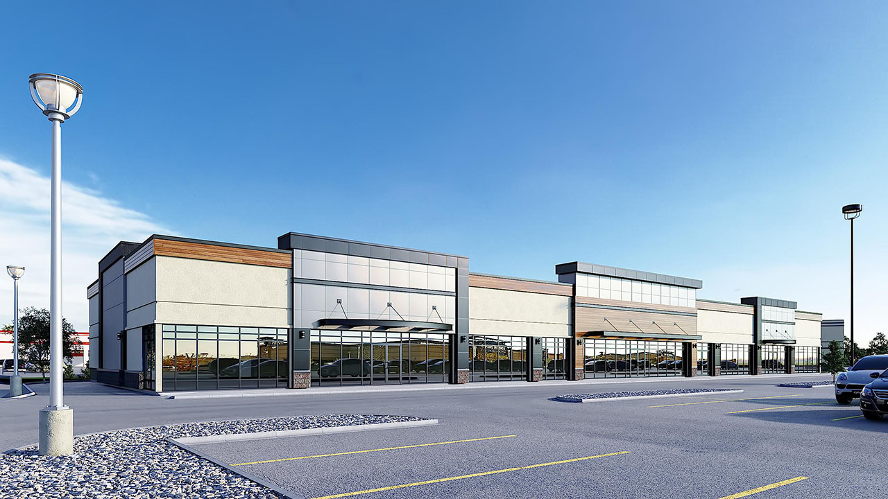 Qualico Commercial Red Deer - Southpointe Common - Strip