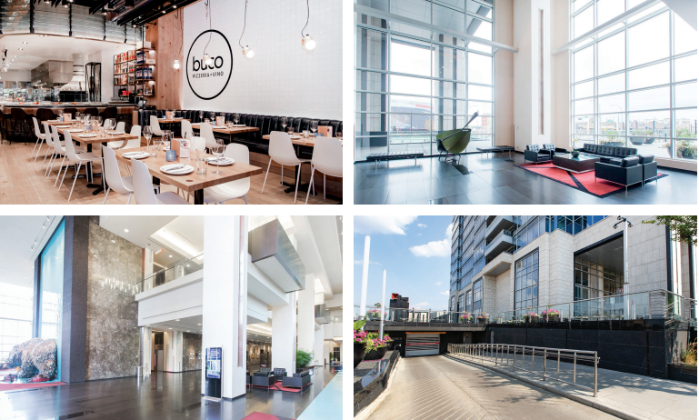 A collage of EPCOR Tower amenities