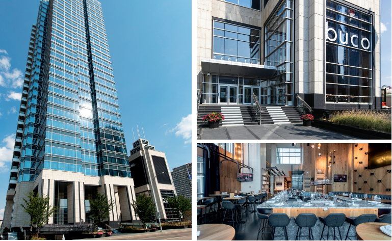 A collage of EPCOR Tower pictures. Interior and Exterior.