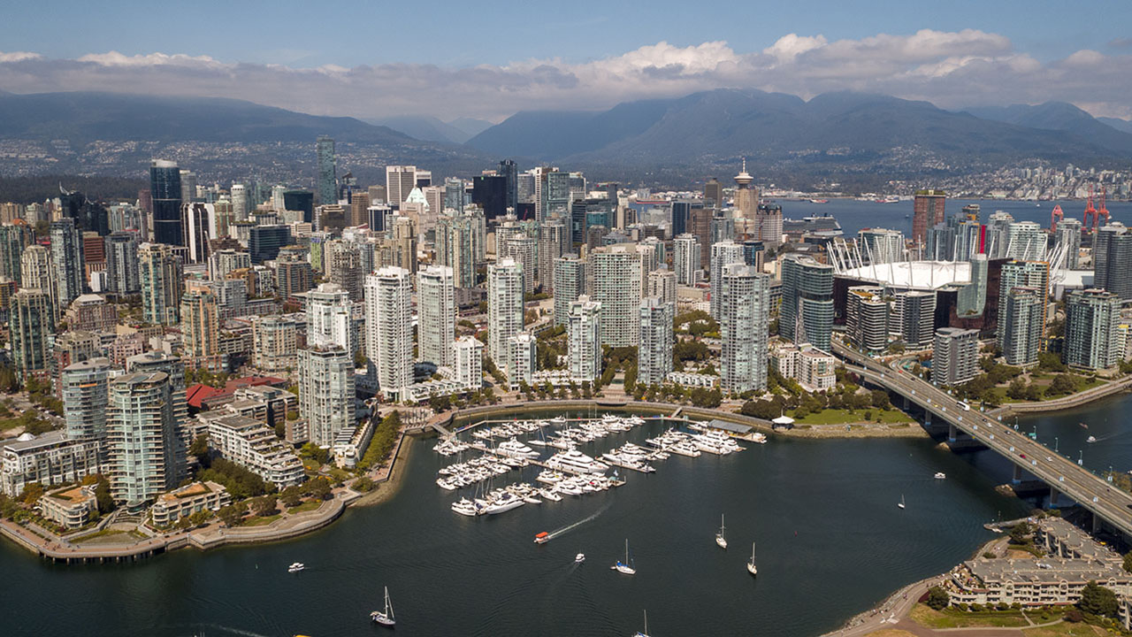 Rancho Management Services Vancouver - Downtown Aerial