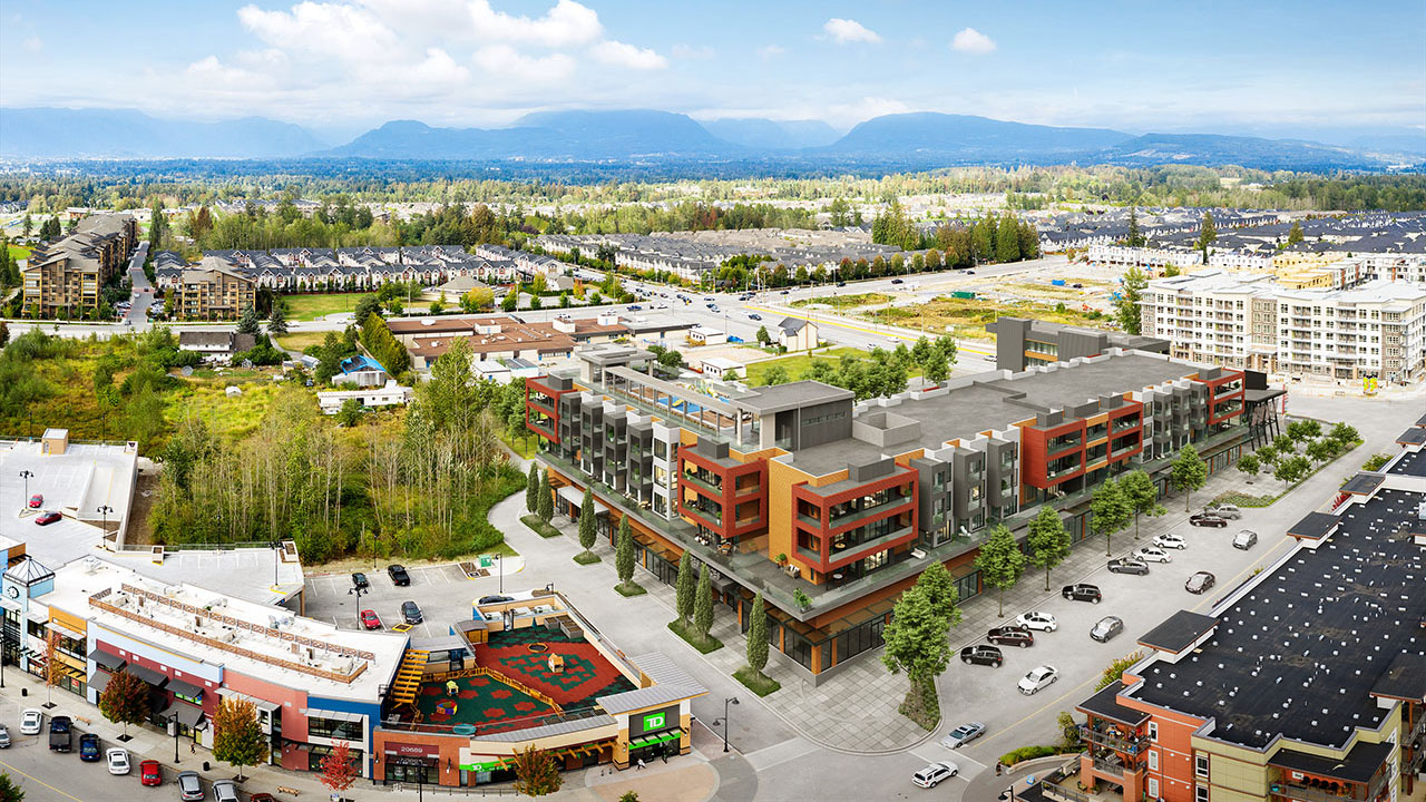 Qualico Commercial Vancouver - Willoughby Town Centre - Aerial