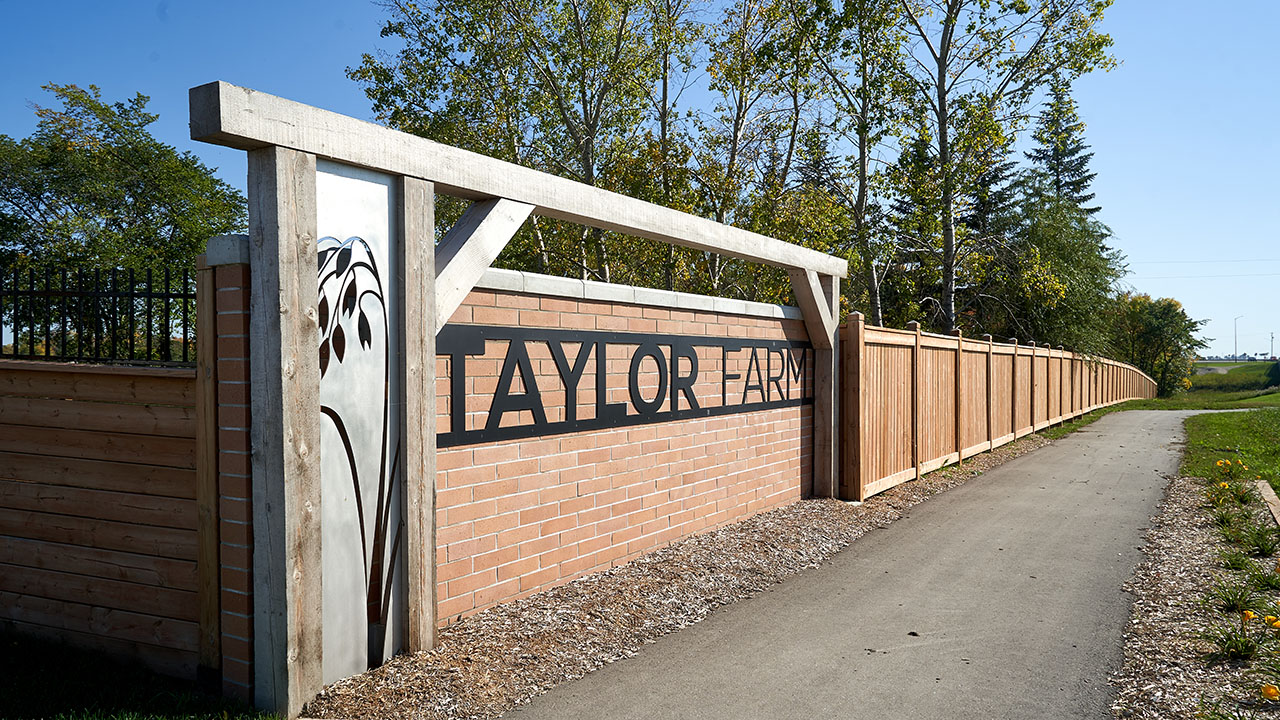 Qualico Communities Winnipeg - Taylor Farm Community - Entrance