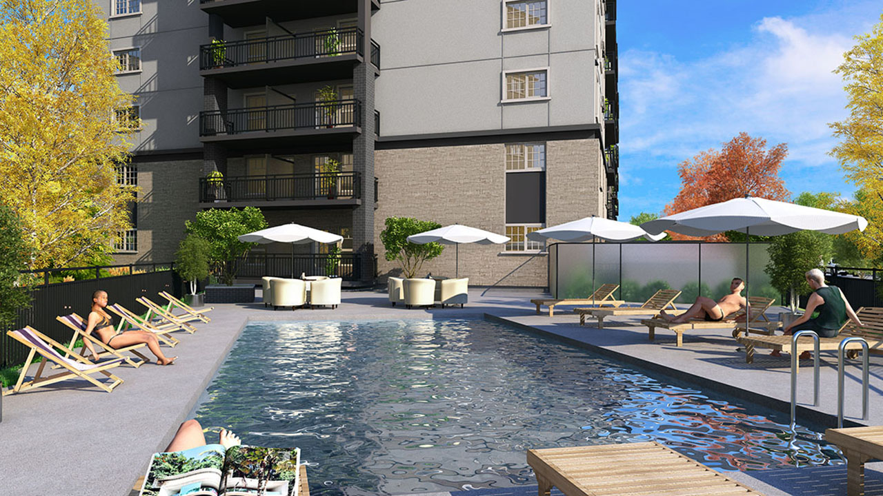StreetSide Winnipeg - The Rise Condos - PoolRendering